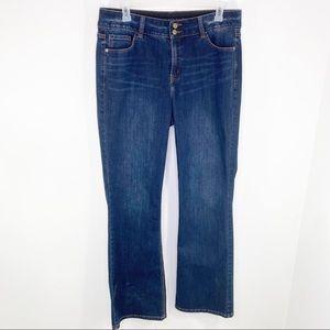 Lane Bryant High Rise Boot Jeans 18L dark wash